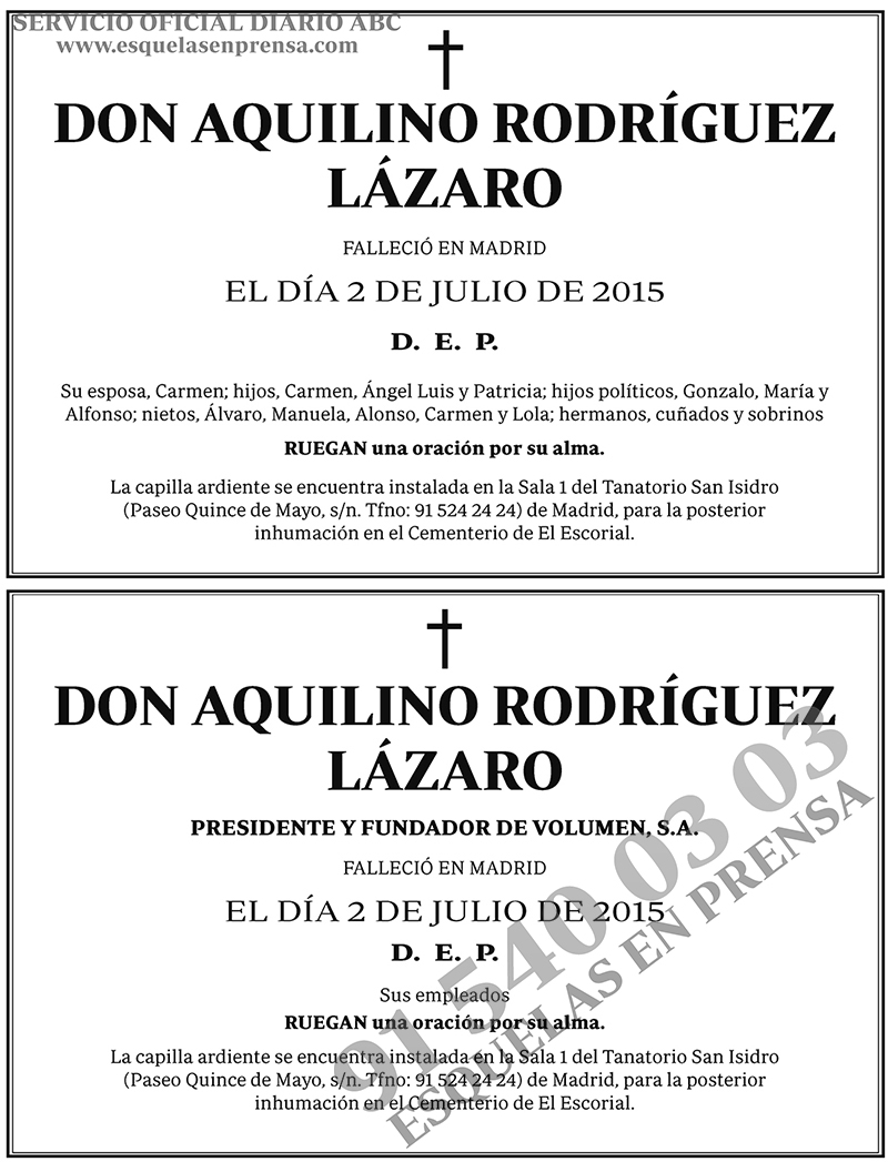 Aquilino Rodríguez Lázaro